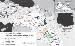 Dabesh búnewey zarawe serekékaní zimaní Kurdí